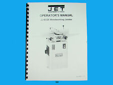 Jet   JJ-6CSX Woodworking Jointer Owners  Manual *189