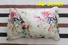 100% Mulberry Pure Silk Pillowcase cover 22 momme pillow case Cream Floral Skin