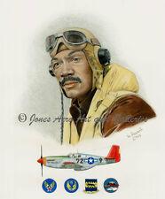 "Lee Archer ""Tuskegee Airmen"" Giclee & Iris Art Prints by artist Willie Jones Jr."