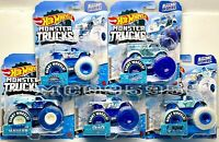 2020 HOT WHEELS MONSTER TRUCKS BLIZZARD BASHERS COMPLETE SET OF 5 CAR