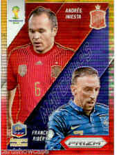2014 World Cup Prizm Yellow & Red Matchups No.24 F. RIBERY / A. INIESTA