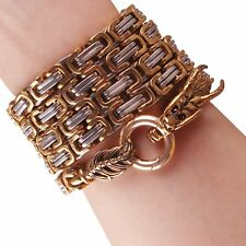 103cm Outdoor full steel self defense hand bracelet chain Dragon Head And Tail