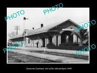 OLD 8x6 HISTORIC PHOTO OF JEANERETTE LOUISIANA RAILROAD DEPOT STATION c1940