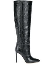 Paris Texas 105mm Crocodile-Effect Leather Boots BRAND NEW