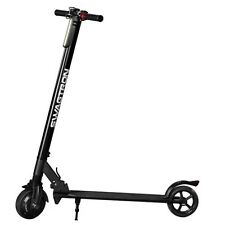 Foldable Electric Motor Scooter Powerful Ride Solid Rubber Tires Led Light