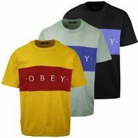 OBEY Men's Color Block Conrad S/S T-Shirt (S03)