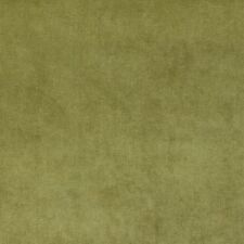 D234 Green, Solid Durable Woven Velvet Upholstery Fabric By The Yard