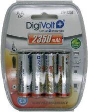 4 Pilas AAA / AA  1100 / 2350 mAh Baterías Recargables 1.2v Bateria NiMh