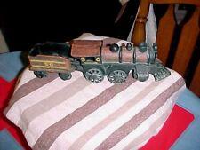 "Cast Iron Train Steam Engine & Coal Car #50  approx 12"" long"