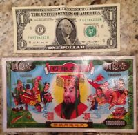 HELL NOTES 55 LARGE SIZE 100 MILLION DOLLAR SEALED NOTE PACK FREE SHIP FROM USA
