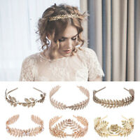 Fashion Gold Leaf Headband Headwear Wedding Bridal Headdress Hair Accessories