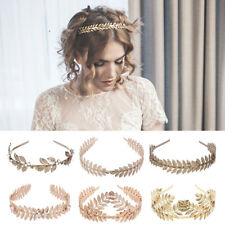 Women Gold Leaf Headband Headwear Wedding Bridal Headdress Hair Accessories