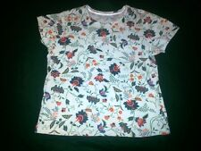 White Stag Dutch Floral Casual Jewel NeckTee Size L* Cotton Blend $7.97