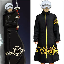 Anime One Piece Trafalgar Law Pirate Cosplay Cloak Costume Coat & Hat HOt NEW
