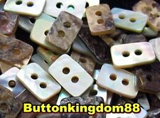 Lot 20 20L 12.7mm Rectangle Real Pearl Shell Button Sewing Crafts Scrapbook DIY