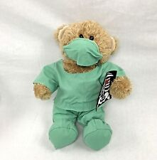 Build A Bear Doctor Workshop Teddy In Green Scubs with Xray Outfit 14""