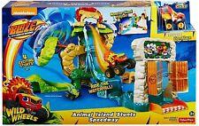 Blaze The Monster Machines Animal Island Stunts Speedway Track Playset Kids Toy