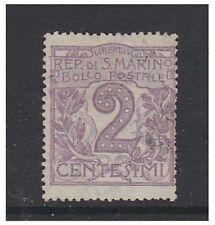 San Marino - 1903, 2c Lilac stamp - G/U - SG 40