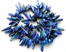 UKcheapest-Blue Lapis long tooth sticks 20x6mm gemstone beads