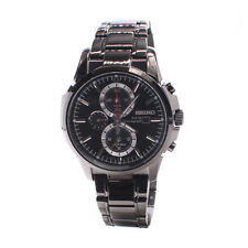Seiko Black Mens Analog Business Solar Chronograph SSC095P1
