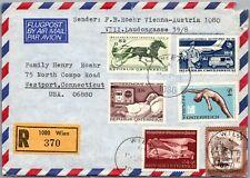 GP GOLDPATH: AUSTRIA COVER 1978 AIR MAIL REGISTERED LETTER _CV776_P06