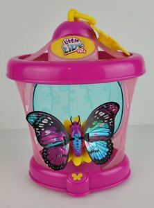 Little Live Pets Rare Wings Butterfly Purple Teal Sparkle Wings Pink Cage