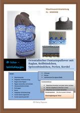 PDF Anleitung für die Strickmaschine Fantasie Pullover  MS00308