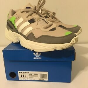 MEN'S ADIDAS 'YUNG-96' CASUAL RUNNING SHOES - SOLAR GREEN - Sz 11.5 - F97182