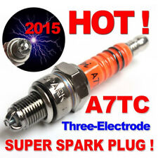 1PC SPARK PLUG A7TJC 3 ELECTRODE GY6 50CC-125CC MOPED SCOOTER ATV QUADS HUMBLE