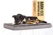 Barkbox Memory Foam Platform Dog Bed | Plush Mattress for Orthopedic Joint- Grey