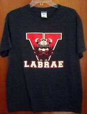 LABRAE HIGH SCHOOL lrg T shirt Vikings throwback Ohio tee Leavittsburg OHSAA