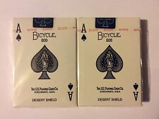 "Bicycle ""DESERT SHIELD"" Deck of 56 ACES OF SPADES Playing cards 2 decks"
