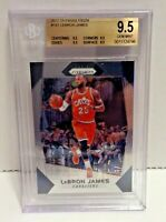LeBron James 2017-18 Panini Base Prizm #191 Cavaliers BGS 9.5 True Gem Mint