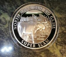 Alaska Moose North American Hunting Club NAHC Big Game Super Slam Silver Coin