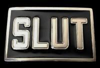 Slut Metal Disco Sign Logo Humor Bar Joke Funny Belt Buckle