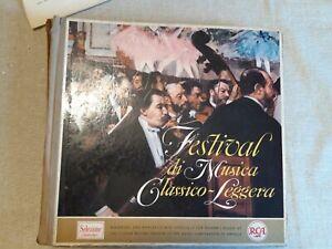 12 LP Festival di musica classico-leggera 33 giri 12 pollici