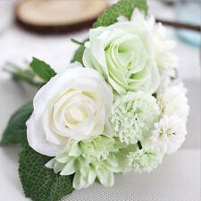 Beautiful Artificial Rose Flower Bouquet Silk Floral Wedding Home Decor 8 Head