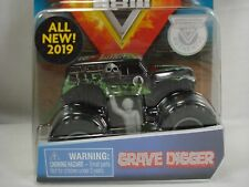 Monster Jam Grave Digger Monster Truck Spin Master with Drivers Figure & Poster