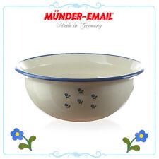 Münder Email - Schale 36 cm - Beige mit Blumen