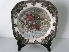 Johnson Brothers Friendly Village SANTA SLEIGH CHRISTMAS Square Salad Plate
