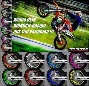 Felgenaufkleber Tuning Yamaha WR 125x Supermoto Felgensticker - TOMTEC-Racing®