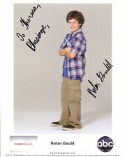 Nolan Gould autographed 8x10 color photo Luke From Modern Family