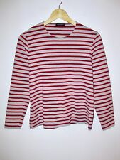 EUC Rare Saint James LS Breton Striped T-Shirt Red Grey M Made in France Top Tee