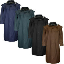 Mens Camden Stockman Long Waterproof Cape Coat Outdoor Riding Trench Raincoat