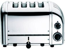 DUALIT 4-Slice Toaster with Defrost Setting and Variable Controls, Chrome/Steel