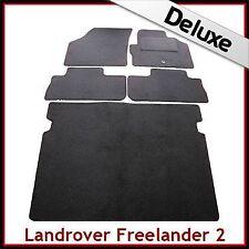 Land Rover Freelander Mk2 2006-2014 Tailored LUXURY 1300g Car & Boot Mats BLACK