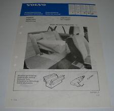 Einbauanleitung Volvo 340 / 360 Hatchback Sedan Gepäckbeutel Stand Juli 1983!