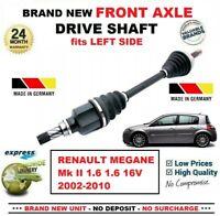 Pour Renault Megane II 1.6 1.6 16V 2002-2010 Tout Neuf Essieu avant Gauche Arbre