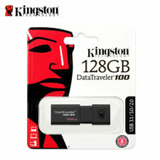 128GB Kingston 128GB USB 3.0 Flash Pen Drive Daten Traveller DT100G3 NEW Black