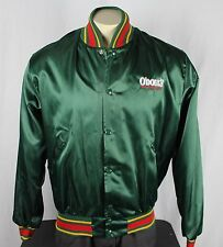 O'Doul's Non-Alchoholic Beer Vintage Satin Jacket Green Large Budweiser